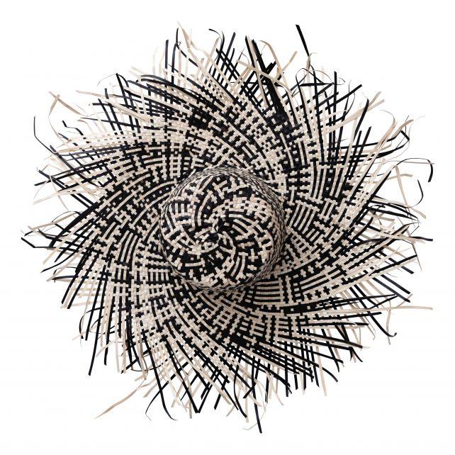 Palmhoed zwart wit