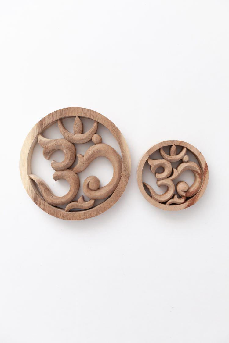 Woodcarving OM sign Ohm symbol
