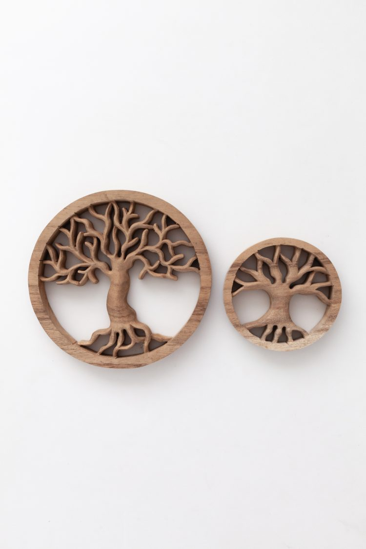 Woodcarving tree of life, levensboom hout, tree of life, ByBazz