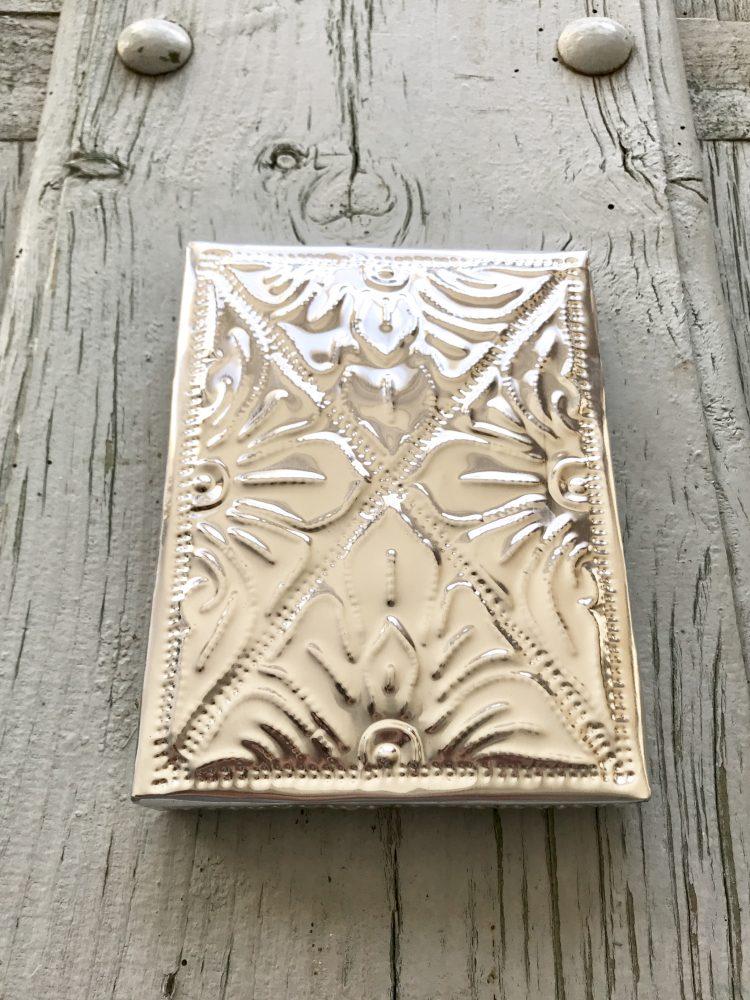 Aluminium doosje plat medium