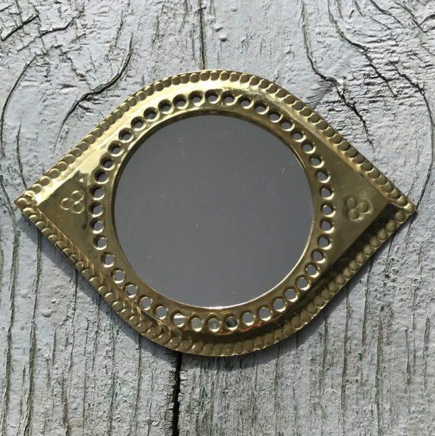 Spiegel Bewerkt Messing M