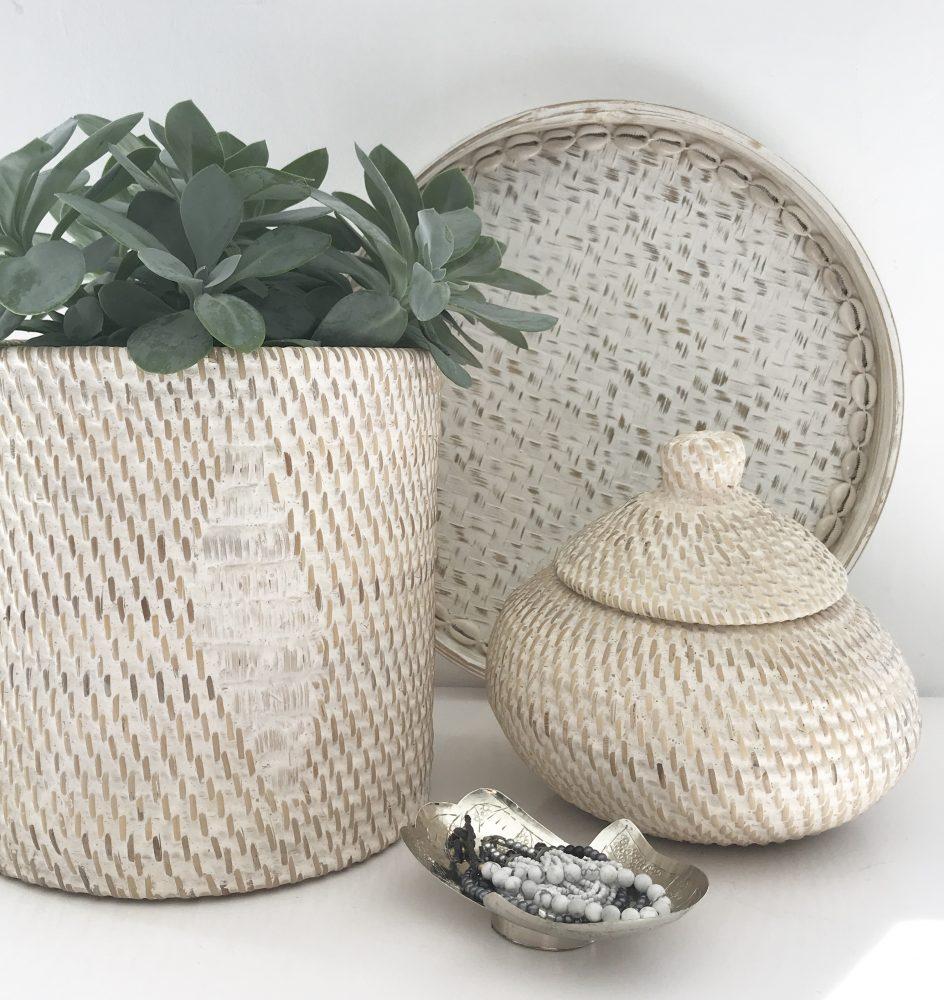 Rotan bowl whitewash