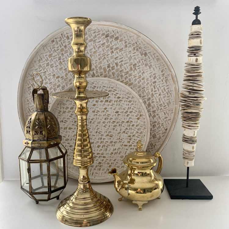 Vintage Brass Kandelaar