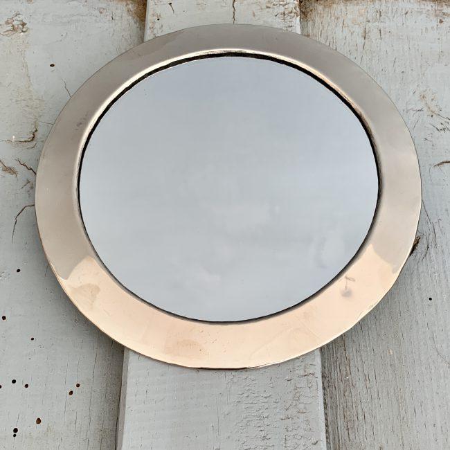 Spiegel zilver rond