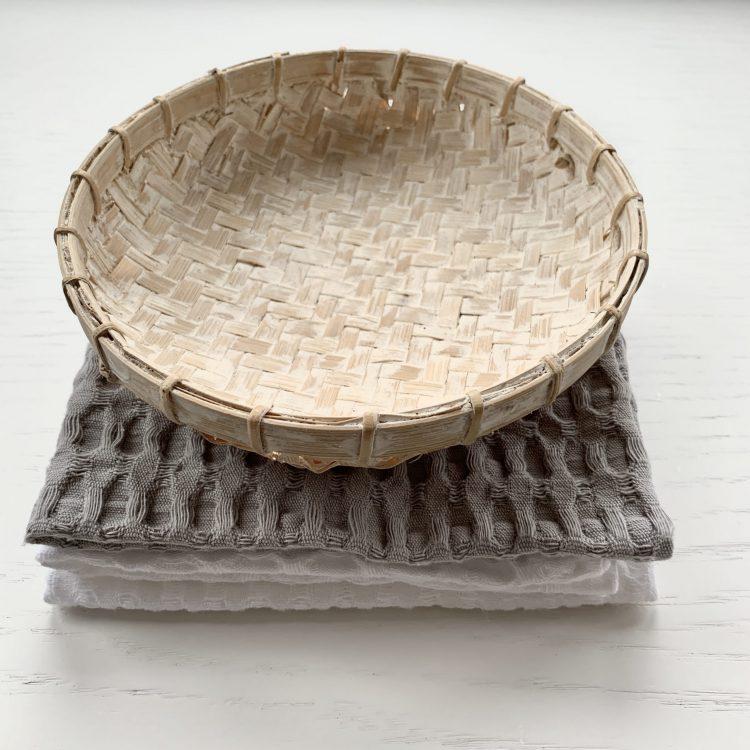 Bamboe offermandje whitewash