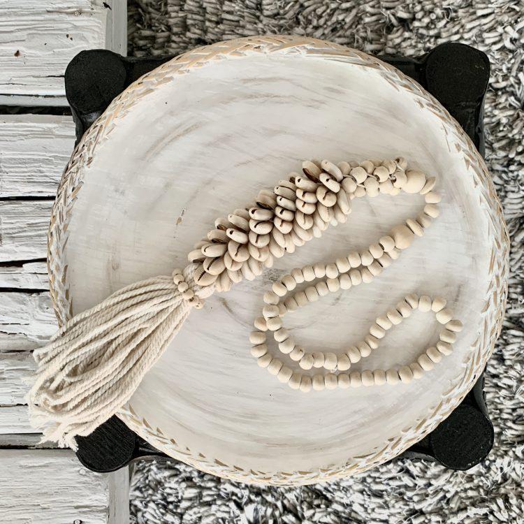 Decoratie Ketting Met Zandkleurige Schelpen