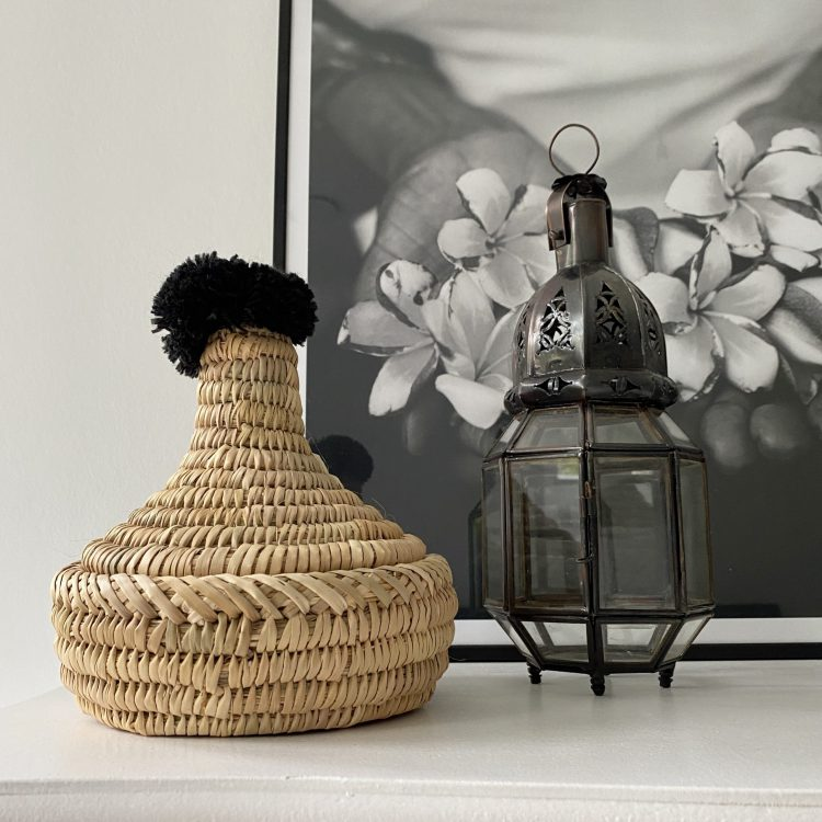 Berber Tajine Pompom Zwart